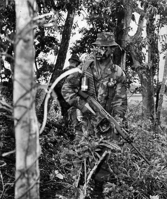 SAS Trooper T.H. Maaka, in the jungles of southern Malaysia training for deployment in Vietnam in 1971