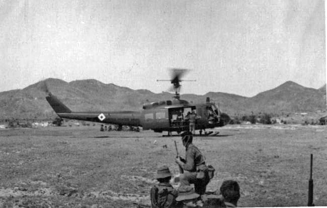 US helicopters transport NZ troops, circa 1967-1968
