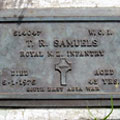 Grave of WO1 T. R. Samuels