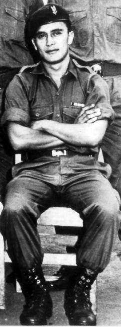 George Babbington during SAS selection, 1970