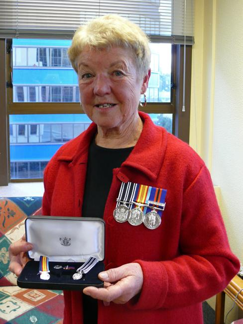 Avis Wilkes receives her medals, May 2008