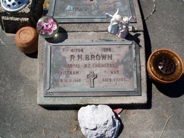 Rawhiti Brown's grave, 2009