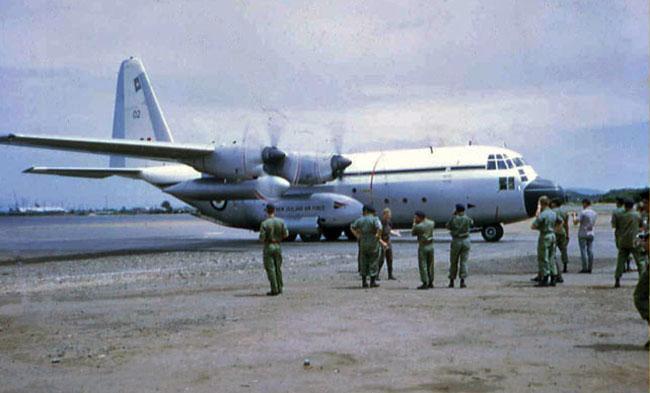 C-130 Hercules at Vung Tau airfield, circa 1969