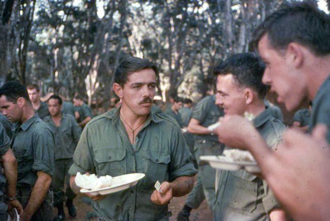 V3 soldiers enjoying a meal, circa 1968-1969
