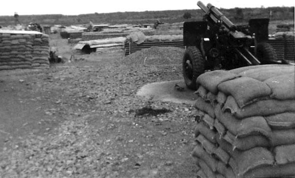 No. 4 gun at Nui Dat, May 1968