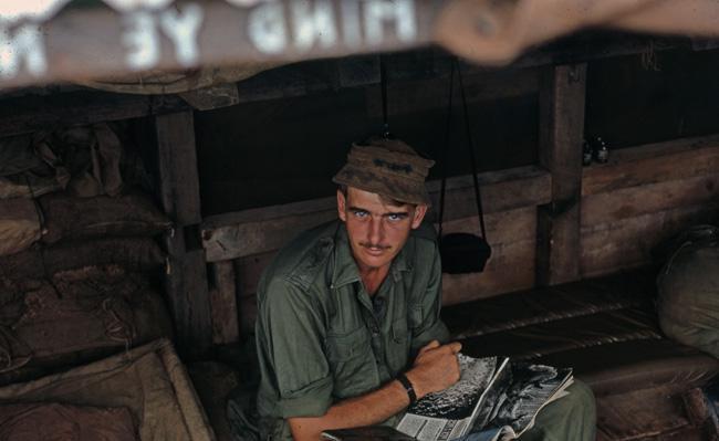 Gnr Dave Kelsey at Nui Dat, circa 1966-1967