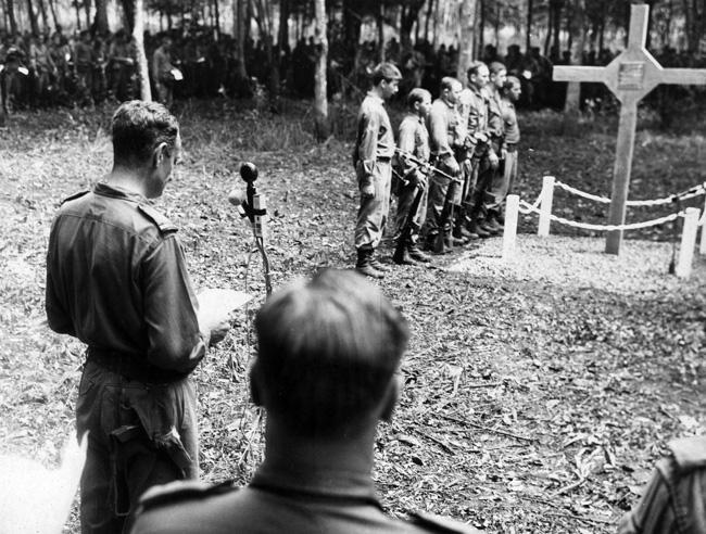 Ceremony at Long Tan Memorial, 1969