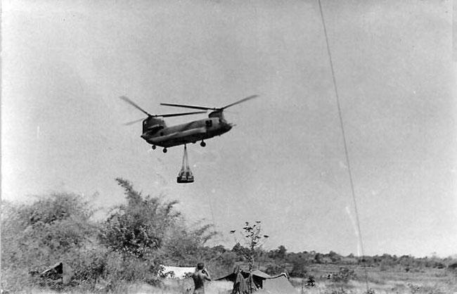 Ammunition resupply for 161 Battery, circa 1966-1967
