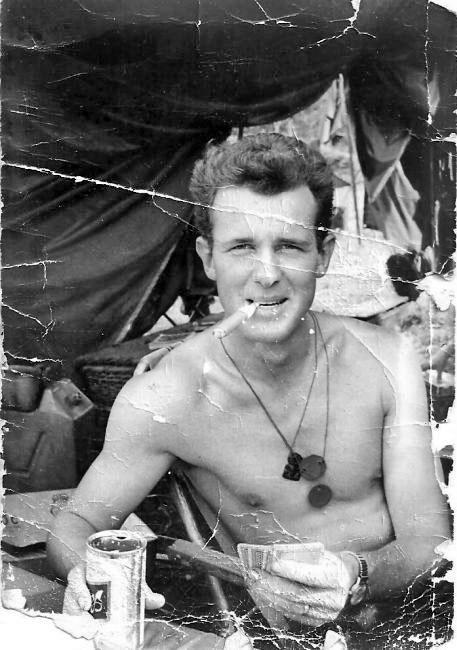 Phil Hollingsworth during Operation Ingham, November 1966