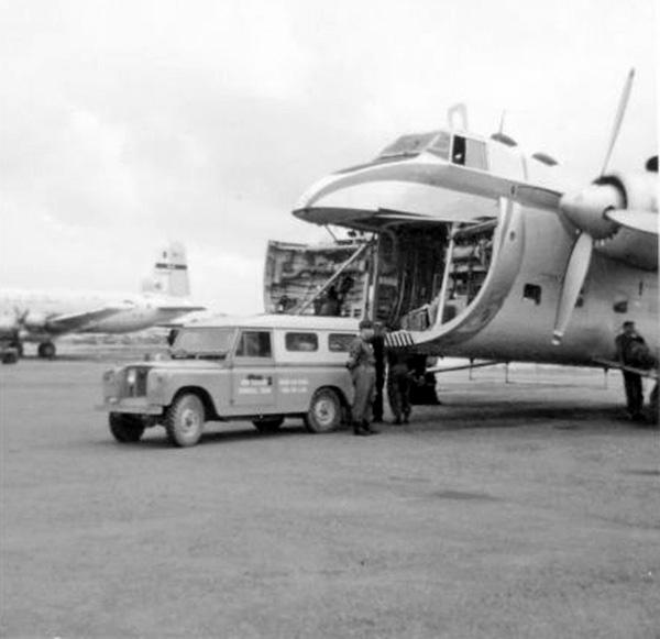 41 Squadron - Bristol Freighter 5906 at Qui Nhon, April 1968