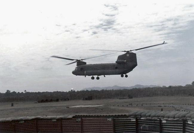 CH-47 Chinook helicopter at Nui Dat, 1971