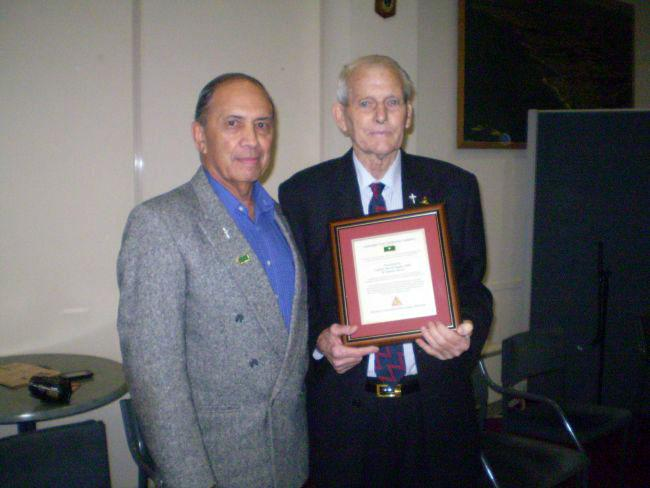 Morrie Stanley (right) and Willie Walker at Browns Bay RSA, 2010