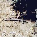 Captured AK47 assault rifle