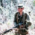 Alan Sherris carrying M60 machine gun