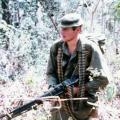 Alan Sherris carrying M60 machine gun