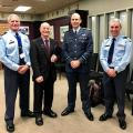 Warrant Officer Warren Tyndall, Doug 'Scotty' Wingfield, Air Vice-Marshall Andrew Clark, Deputy Director Of Air Force Museum Brett Marshall