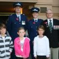 Joe Tate and family members on Anzac Day, 2010