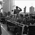 Helen Kesha welcomes troops - 161 Battery parade, 12 May 1971