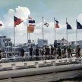 Band members on the roof of the Free World Military Headquarters in Saigon - 1RNZIR Band Tour, 1969