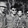 Richard Mountfort (1944-2008) with South Vietnamese soldiers, 1971
