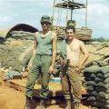 Andy Mokaraka and Mickey Ryan at Sandbag City, circa 1971