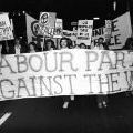 Labour Party members protest in Auckland, 21 April 1972