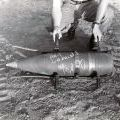 8-inch artillery shell belonging to the US 1st Battalion, 83rd Artillery Regiment