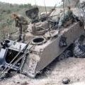 Australian APC 20A after being hit in the Long Hai Hills, 25 February 1970