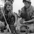 Engineers with an M16 land mine, 1969