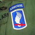 United States 173rd Airborne shirt and helmet
