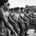 New Zealand troops perform a haka in Vietnam