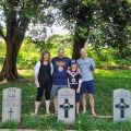 Graham family at Terendak cemetery