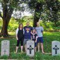 Graham family at Terendak cemetery