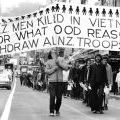 Protesters highlight New Zealand casualties in Vietnam, 1970
