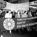 Anti-Vietnam War protest march in Wellington, 1971