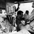 Members of Victor 3 Company aboard helicopter, circa 1969