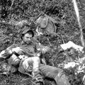 John Sherriff awaiting medevac, 16 November 1968