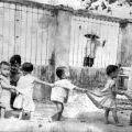 Children line up at a Saigon orphanage, 1968
