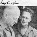 Sergeant's P. Quinn and J. W. Carter discuss troop newspaper, 5 May 1964