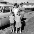 Susan Hughes with family at Waiouru, 1966