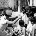 Charge Sister Pamela Miley with Vietnamese orphans, circa 1969