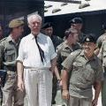 Sir Bernard Fergusson visits 2NZATTV at Dong Ba Thin, 1972