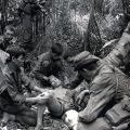 Corporal TG Gordon treats a wounded VC after a contact, circa 1969