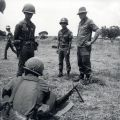 Corporal W.S. Vautier, 1NZATTV instructs South Vietnamese soldiers, 1971-72