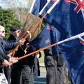 Flag bearers at the NZ Vietnam Veterans' Remembrance Day service, 20-21 August 2011