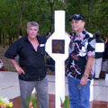 Nigel Martin and Willie Walker [right] at the Long Tan Cross, Anzac Day 2010