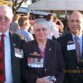 Murray Broomhall, Alva Stanley and Willie Walker at the Long Tan anniversary day in Brisbane, 2011