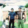 Frank Walker and Willie Walker (right) at Te Whetu, Christmas 1966
