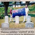 Veterans visit Don Frith's grave, 2000